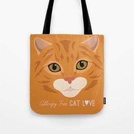 Allergy Free Cat Love: Ginger Tabby Tote Bag