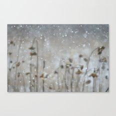 Sunflowers in the Snow Canvas Print
