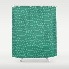 Illuminating emerald - green - Modern Vector Seamless Pattern Shower Curtain