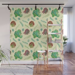 Paddle Plant Pattern Wall Mural