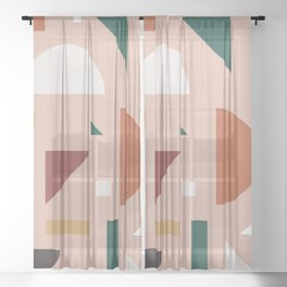 Abstract Geometric 31 Sheer Curtain