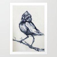 to kill a mockingbird Art Prints featuring Do not kill the mockingbird by The Headless Fish