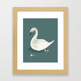 Watercolor Swan Framed Art Print