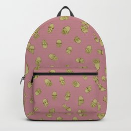 Pink+Mustard Succulents Backpack