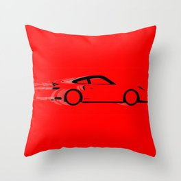 Fast Red Car Throw Pillow