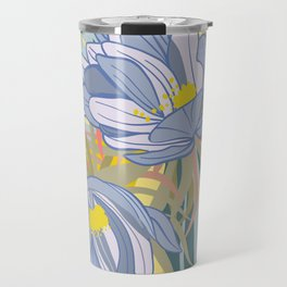 Night Blooming Cereus, Digital Painting, Wall art botanical poster Travel Mug