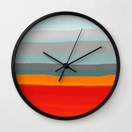 Rustic Stripes Wall Clock