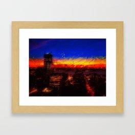 Fire Sky (left) Framed Art Print