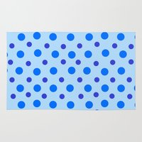 polka dots Area & Throw Rugs featuring Polka Dots by Texture