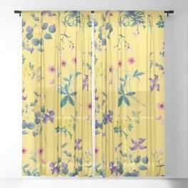 Spring fling II Sheer Curtain
