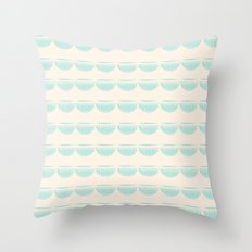 half moons Throw Pillow