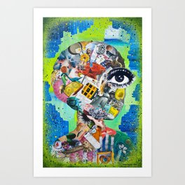 What's Going On Inside [Under the Surface] Art Print