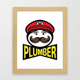 Plumber Potato Chips Framed Art Print