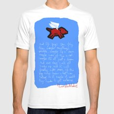 fly, little pig Mens Fitted Tee SMALL White
