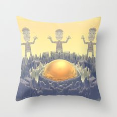 Rock Characters Throw Pillow