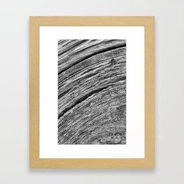 Natural Woodgrain Texture Framed Art Print