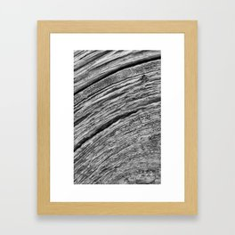 Natural Woodgrain Texture Framed Art Print