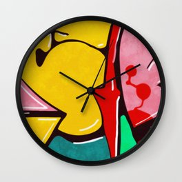 In the street No3 Wall Clock