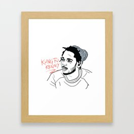 Kung Fu Kenny Framed Art Print