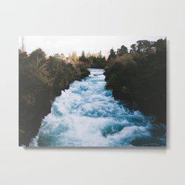 Huka Falls Metal Print