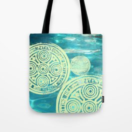 swimmingly three Tote Bag