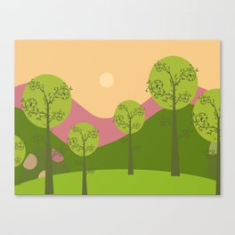 Kawai landscape breaking Dawn Canvas Print