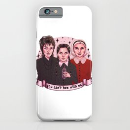 you can't hex with us iPhone Case