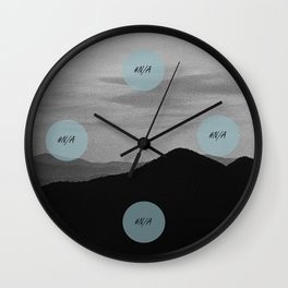 Fine mountains lines - #N/A Wall Clock