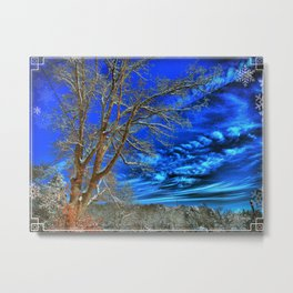 Winter Skies To Come Alive Metal Print