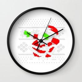 Dabbing Santa Ugly Christmas Wall Clock