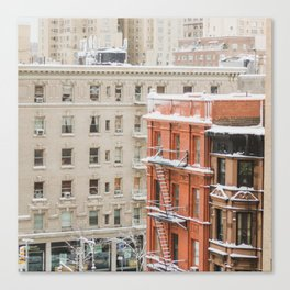 Upper West Side Snow Globe - NYC Photography Canvas Print
