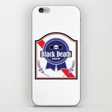 Black Death Ribbon (Color) iPhone & iPod Skin