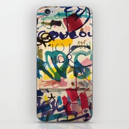 Urban Graffiti Paper Street Art iPhone Skin