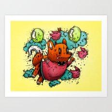 Flying Prey Art Print
