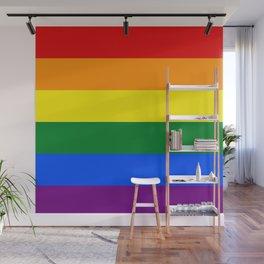 Pride rainbow flag Wall Mural