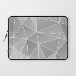 Geo Pattern (Silver Sand and White) Laptop Sleeve