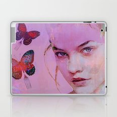 Isabelle and butterflies fork Laptop & iPad Skin