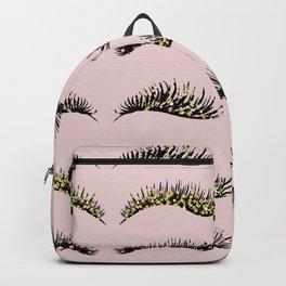 Blush pink - glam lash design Backpack