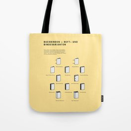 Buchbinden – Heft- und Bindevarianten Tote Bag