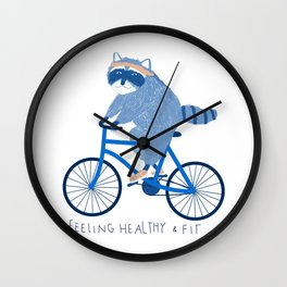 Feeling healthy and fit Wall Clock