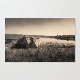 The Old Fishing Boats Canvas Print