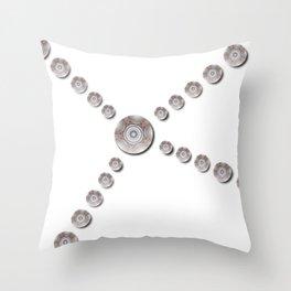 Little Disks Mandala Throw Pillow