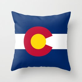 Colorado State Flag Patriotic Design Throw Pillow