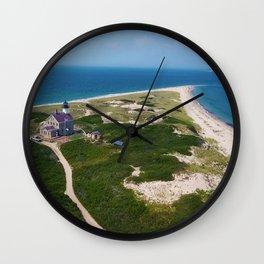 Otherworldly, Northeast Lighthouse and Sandy Point, Block Island, Rhode Island Wall Clock