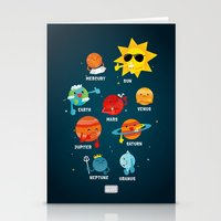 solar system Stationery Cards featuring Solar System by Duck Duck Moose