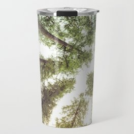 Green Forest Sky Trees Travel Mug
