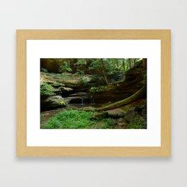 Cradling the Falls Framed Art Print