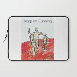 Keep on Running athletes motivational art Laptop Sleeve