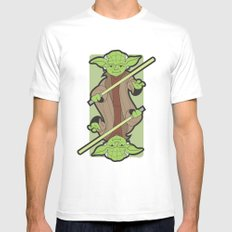 Yoda White Mens Fitted Tee SMALL