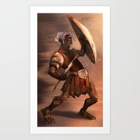 gladiator Art Prints featuring Gladiator by normalitea